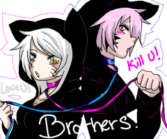 Brother and sisther by Alekeiia