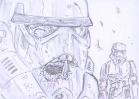 Death Troopers Sketch Card by shinlyle