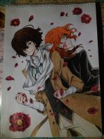 Dazai and Chuuya by NyeNyec2001