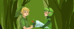 Link and Saria II by Zairal