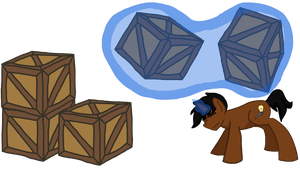 Helix and some boxes by DashieKitten