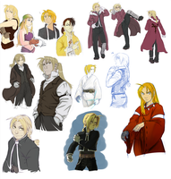 FMA doodlings p4 - mostly Ed by Fenchan