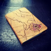 leather moleskin cover assassins creed italy map by MerrillsLeather