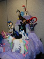 Tower of Plushies from Pony Museum by Drachefrau