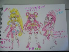 Cure Heart, Cure Dream and Cure Blossom by vivian274