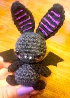 Wee Lil Kawaii Halloween Bat Amigurumi by Spudsstitches