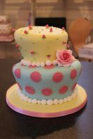 2 tier wonky wedding cake by The-Fairy-Cakery