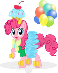 Everyone's Favorite Pink Party Pony by RelaxingOnTheMoon