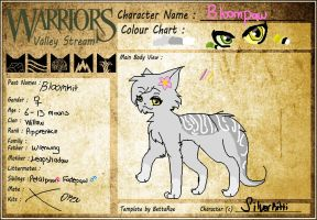 WVS - .: Bloompaw of Willowclan :. by SilverKitti