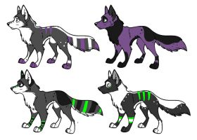 JacksonxSnow-Spell Pups CLOSED by Spazz-Adopts