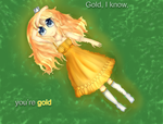 ~Lyric Video Collab~ Gold,I know,you're gold by DesuPurpalHoodie