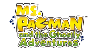 Ms Pac-man and the Ghostly Adventure-Logo by zigaudrey