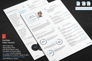 The Clean Resume by khaledzz9