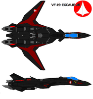 VF-19A black panther by bagera3005