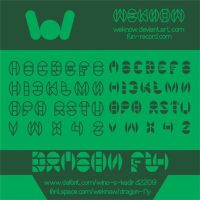 dragon fly font by weknow by weknow