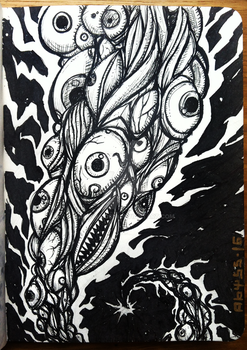 Madness Generator - Inktober day #7 by Abyssmosis
