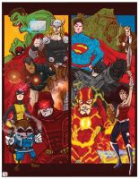 Marvel + DC by tarunbanned