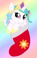Princess Celestia Stocking by Butterfly-Aria