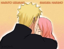 NaruSaku, kiss on the forehead by NaruSasuSaku91