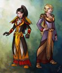 Commission: Priestess and Paladin by iara-art