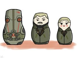 Pacific Rim Matryoshkas by salmoose