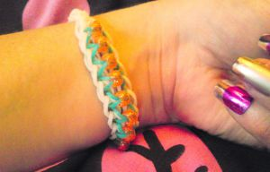 loom band with beads by L-A-Addams-Art