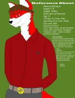 My Fursona Reference Sheet Updated by MarcusMcCloud100
