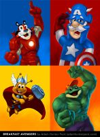 Breakfast Avengers by AdamHunterPeck