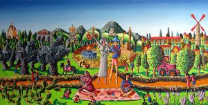 Jerusalem naive painting art by raphael perez by shharc