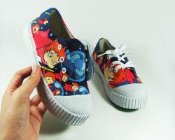 FANART PONYO CUSTOM SHOES , handpainted by Annatarhouse
