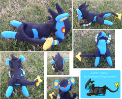 Mini Luxray Plushie by racingwolf