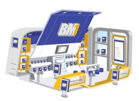 BM1 booth for Artegraphic by ge12ald