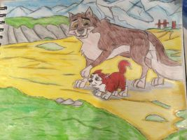 Balto and Kodi - Father and Son by Alyssaeve