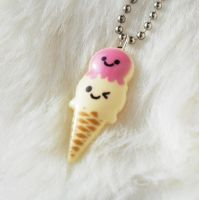 Kawaii Icecream Necklace by AsianBunni