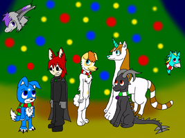 Christmas group picture 1 by XD001Pika