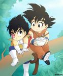 Lil Goku and Vegeta by meiharu