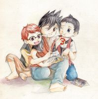 Reading book by yama30