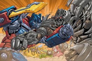 Transformers UK 13 spread by DustinYee