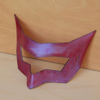Blue-Red Superhero Mask by DracoLoricatus