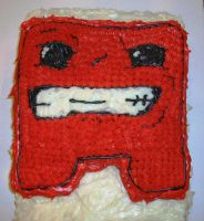 Meatboy Cake by KellyCurly