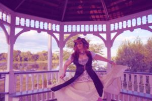Pyrate Wench Dance In The Gazebo 001 by BlackUniGryphon