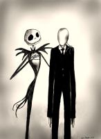 Jack and his brother Slender Man by smoofay