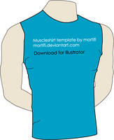 Muscleshirt Template by mortifi