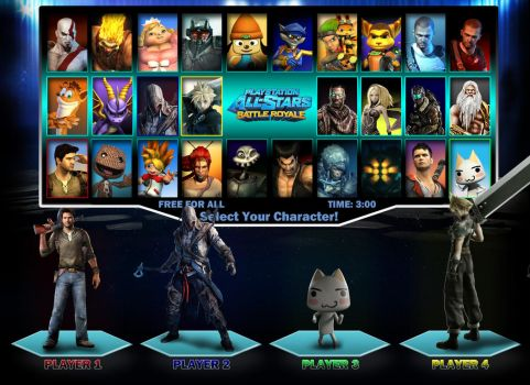 PlayStation All-Stars Battle Royale Roster 3 by PacDuck