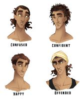 Ishmael expressions and hair by SilvesterVitale