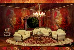 Red Gold Parlor by OokamiKasumi