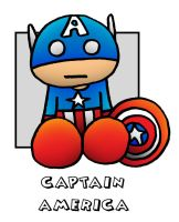 Lil' Plusher Captain America by 5chmee