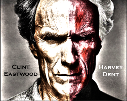 Clint Eastwood as Two Face by silentscarecrow