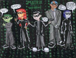 Teen titans star in The Matrix by bastet1994