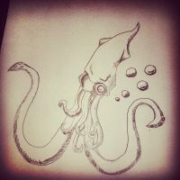 Squid Sketch by AnalieKate